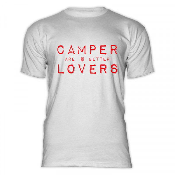 CAMPER are better LOVERS- Herren-Camping-T-Shirt