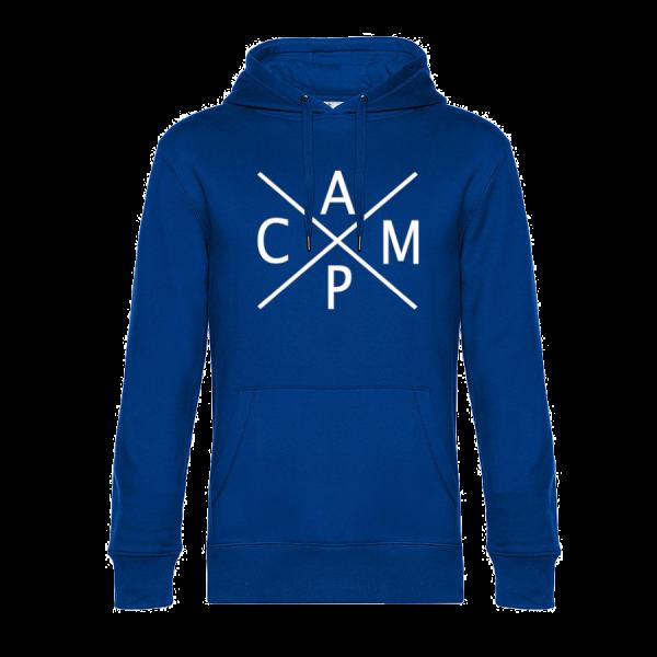 CAMP - Unser Hoodie für Camper ist die ideale Camping Kleidung. Unsere Hoodies eignen sich für Wohnmobil, Wohnwagen oder Dauercamper. Ideal auch als Geschenk für Camper.