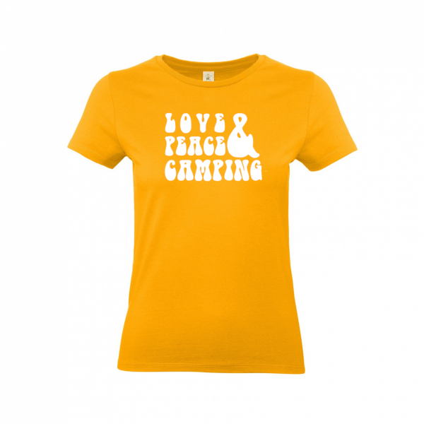 Love Peace Camping - Damen Camping T-Shirt