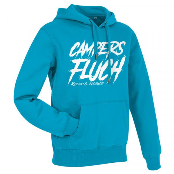 CAMPERS FLUCH - Regen und Besuch - Herren-Camping-Hoody Blau/Weiß