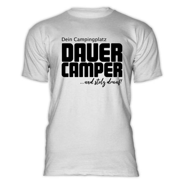 DAUERCAMPER- Herren-Camping-T-Shirt