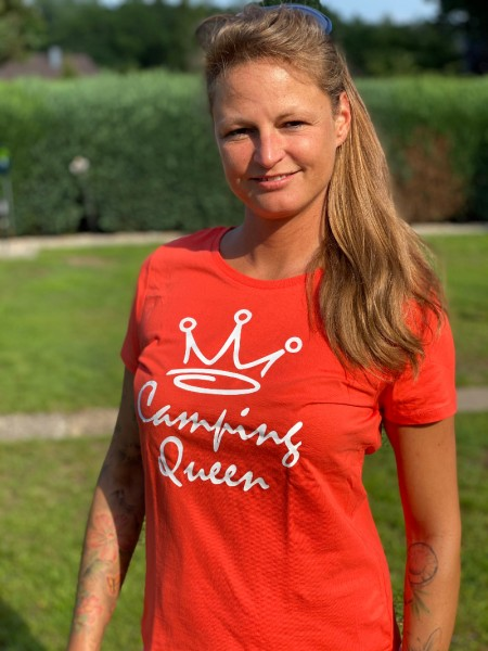 Camping Queen / Damen Camping-T-Shirt - Orange
