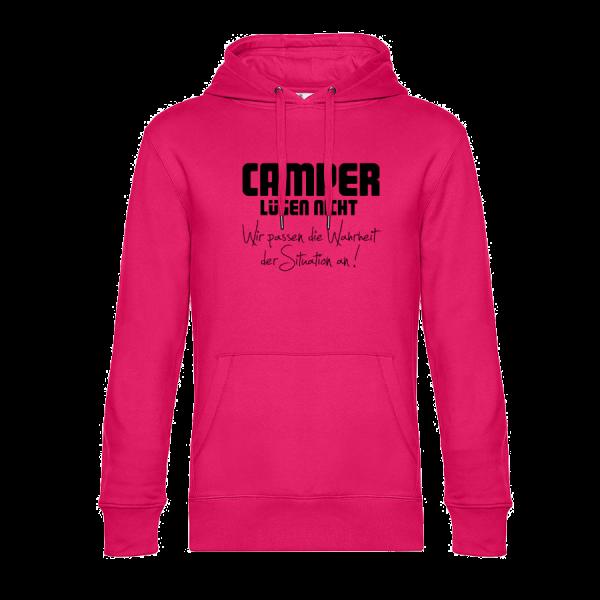 Camper lügen nicht, wir passen die Wahrheit der Situation an! - Unser Hoodie für Camper ist die ideale Camping Kleidung. Unsere Hoodies eignen sich für Wohnmobil, Wohnwagen oder Dauercamper. Ideal auch als Geschenk für Camper.