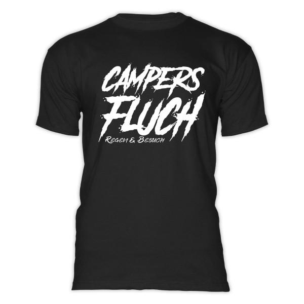 CAMPERS FLUCH- Regen und Besuch - Herren-Camping-T-Shirt