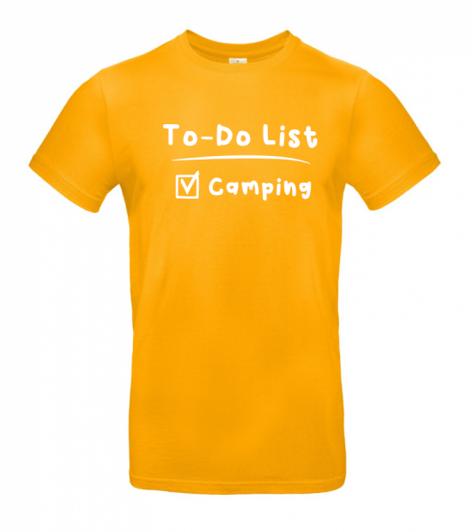 To-Do List - Camping T-Shirt (Unisex)