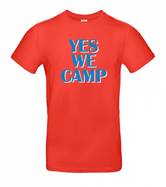 YES WE CAMP - Retro - Camping T-Shirt (Unisex)