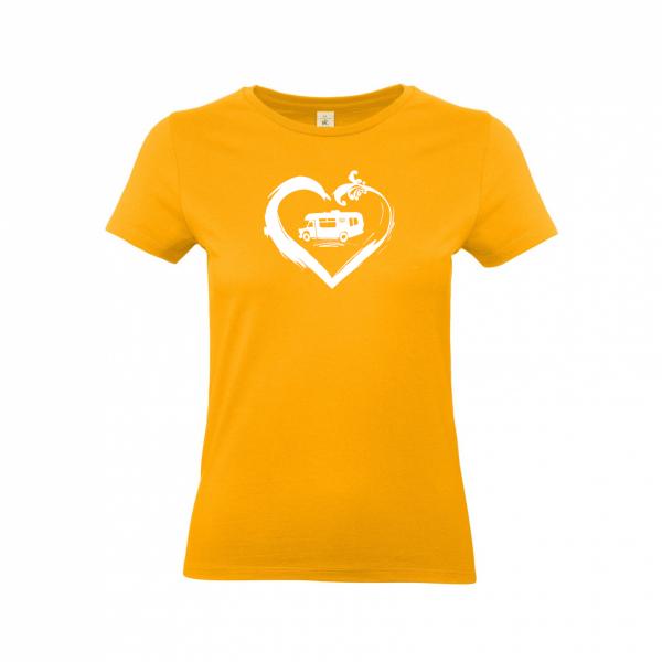 Wohnmobil Camperin mit Herz - Camping T-Shirt für Frauen