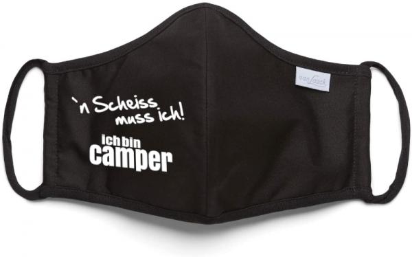 Mund und Nasenschutz Maske - ´N Scheiss muss ich, ich bin Camper