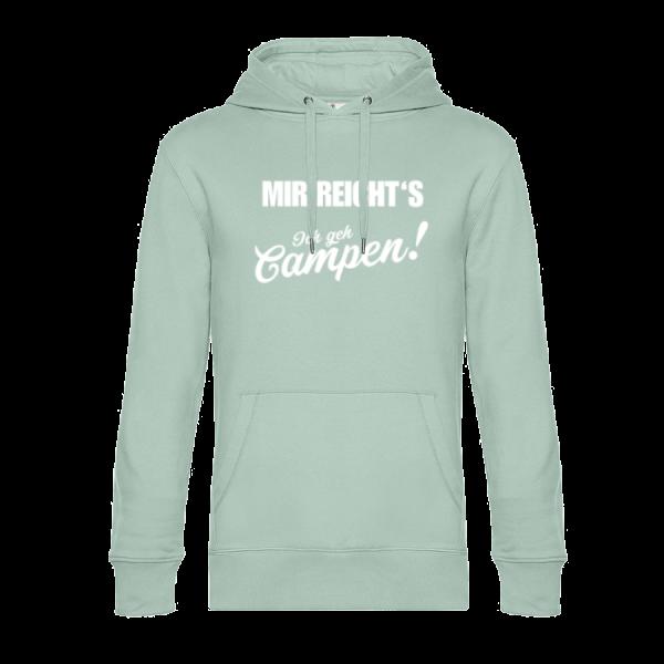 Mir reicht´s! Ich geh Campen - Unser Hoodie für Camper ist die ideale Camping Kleidung. Unsere Hoodies eignen sich für Wohnmobil, Wohnwagen oder Dauercamper. Ideal auch als Geschenk für Camper.