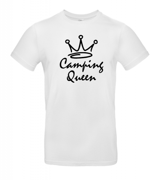 Camping Queen - Damen Camping T-Shirt XXL