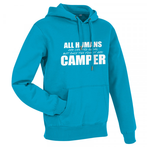 All Humans are created equal - Herren-Camping-Hoody Blau/Weiß
