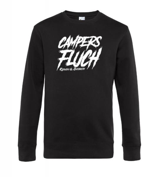 Campers Fluch, Regen und Besuch - Camping Sweatshirt / Pullover (Unisex)