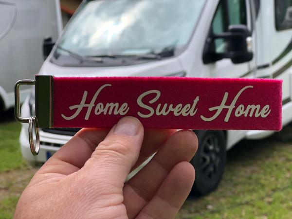 Camping Schlüsselanhänger - Home Sweet Home - Pink