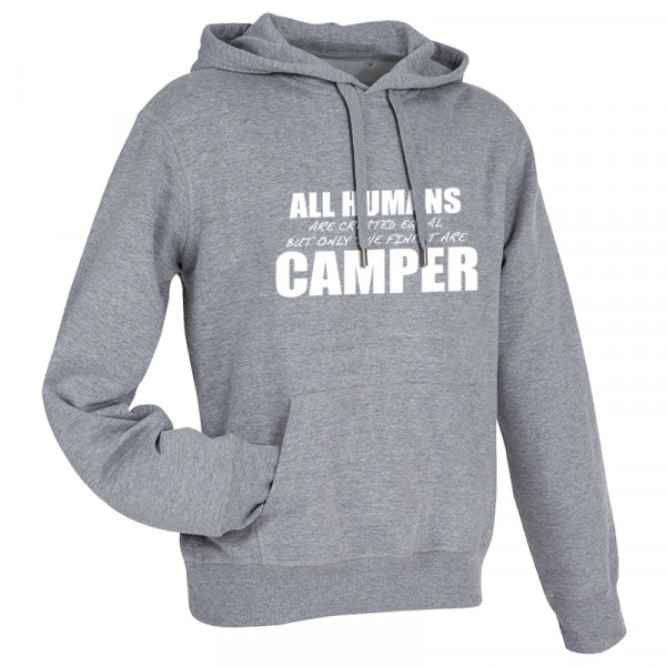 All Humans are created equal - Herren-Camping-Hoody Grau/Schwarz