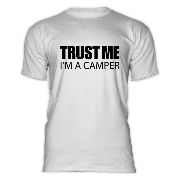 TRUST ME I'M A CAMPER - Herren-Camping-T-Shirt
