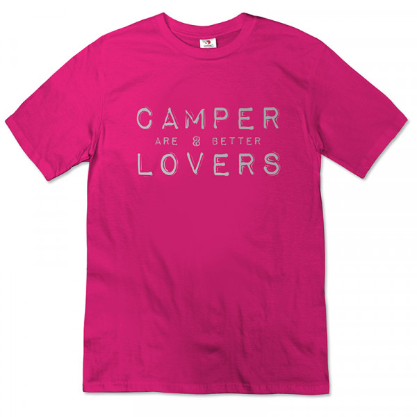 Camper are better Lovers - Damen-T-Shirt-Pink/Silber