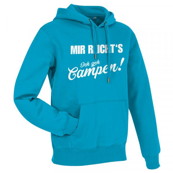 MIR REICHT´S! - Ich geh Campen - Herren-Camping-Hoodie Blau/Weiß-