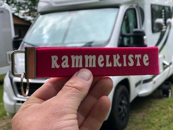 Camping Schlüsselanhänger - Rammelkiste - Pink