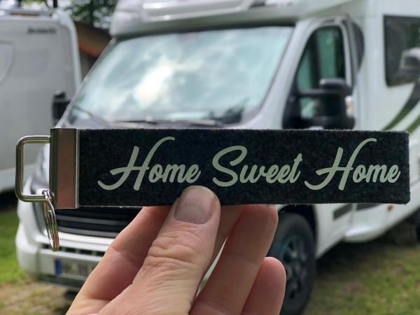 Camping Schlüsselanhänger - Home Sweet Home - Schwarz