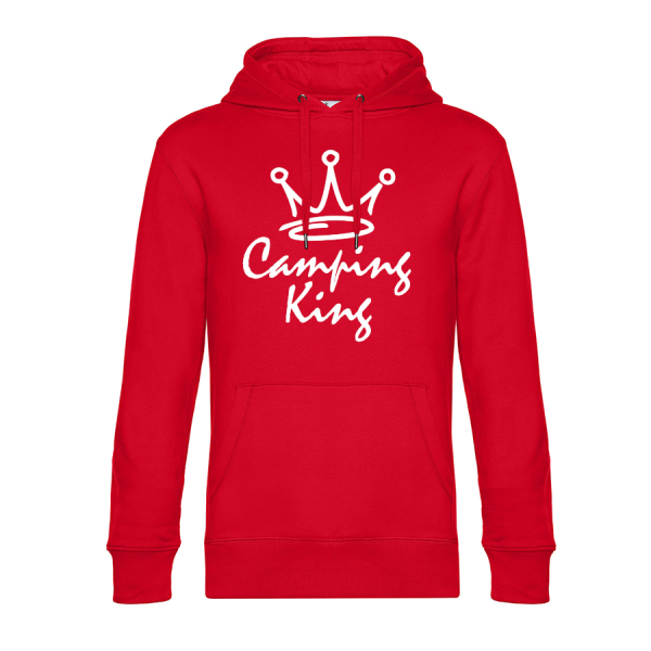 Camping King - Unser Hoodie für Camper ist die ideale Camping Kleidung. Unsere Hoodies eignen sich für Wohnmobil, Wohnwagen oder Dauercamper. Ideal auch als Geschenk für Camper.