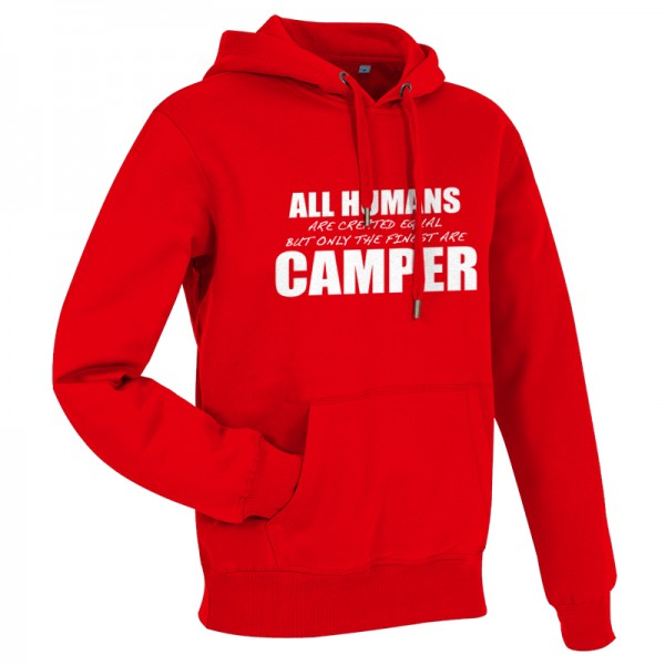 All Humans are created equal - Herren-Camping-Hoody Rot/Weiß