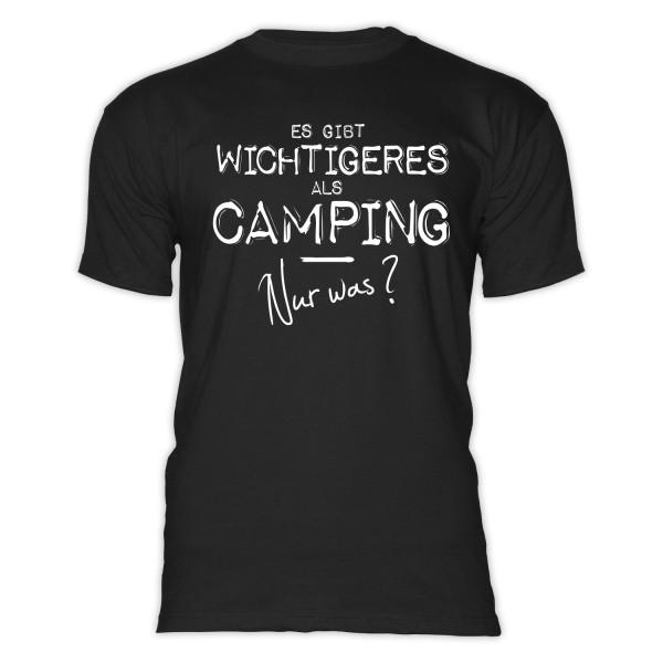 Es gibt wichtigeres als CAMPING, nur was? - Herren-Camping-T-Shirt