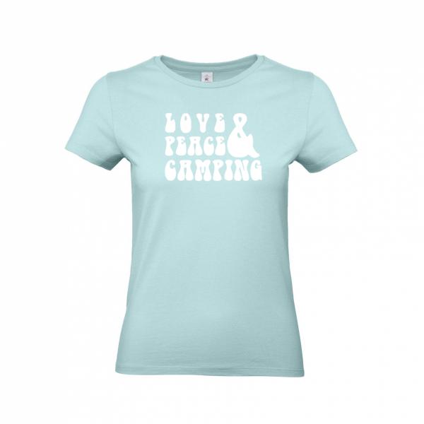 Love Peace Camping - Camping T-Shirt für Frauen