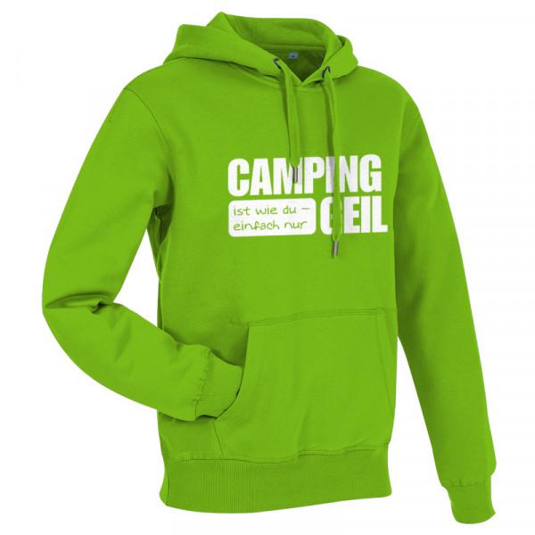 CAMPING ist GEIL - Herren - Herren-Camping-Hoddy Grün/Weiß