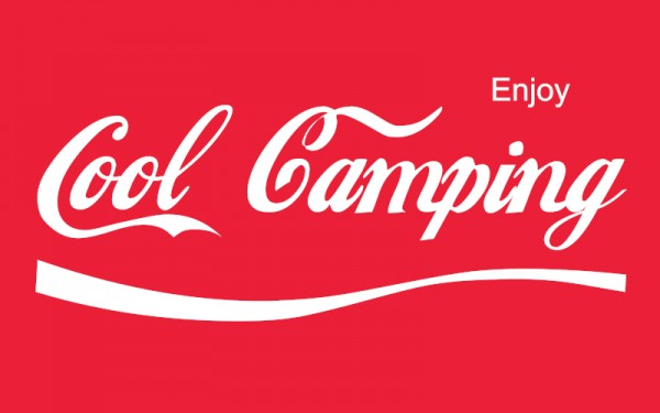 Cool Camping - Camping Fahne 150,0 x 90,0 cm - Rot/Weiß