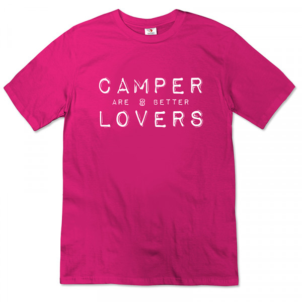 Camper are better Lovers - Damen-T-Shirt-Pink/Weiß