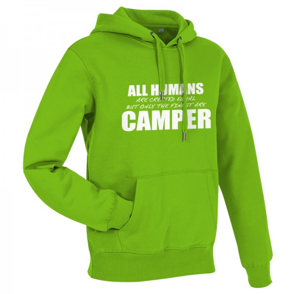 All Humans are created equal - Herren-Camping-Hoody Grün/Weiß-Copy