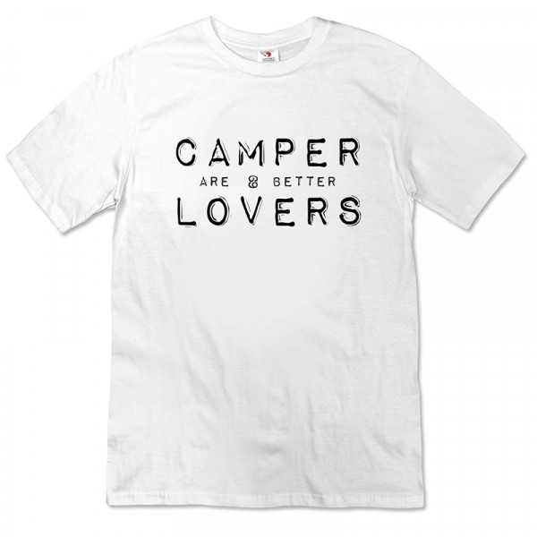 Camper are better Lovers - Damen-T-Shirt-Weiß-Schwarz