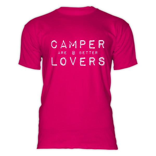 CAMPER are better LOVERS- Herren-Camping-T-Shirt Schwarz/Weiß
