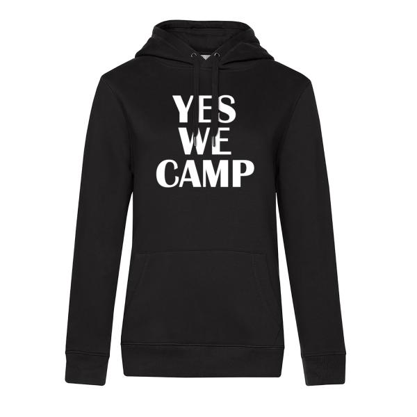 YES WE CAMP - Camping Hoodie für Frauen - Unser Hoodie für Camper ist die ideale Camping Kleidung. Unsere Hoodies eignen sich für Wohnmobil, Wohnwagen oder Dauercamper. Ideal auch als Geschenk für Camper.
