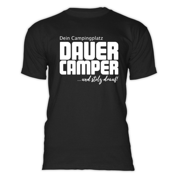 Ecocamping DAUERCAMPER- Herren-Camping-T-Shirt
