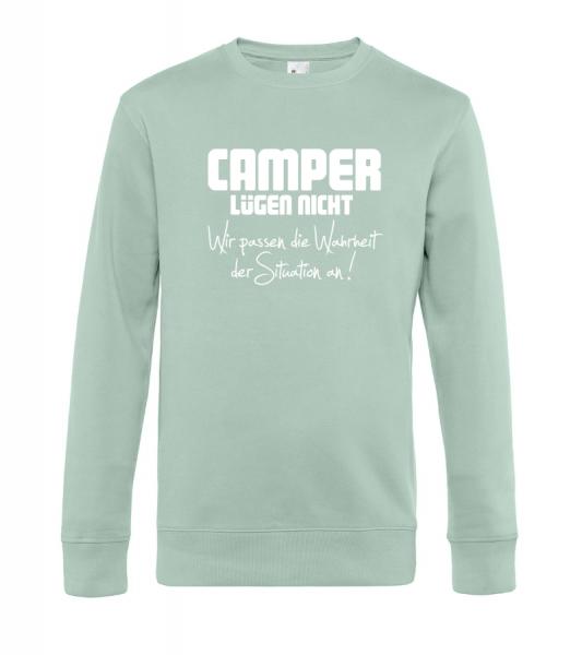 Camper lügen nicht - Camping Sweatshirt / Pullover (Unisex)