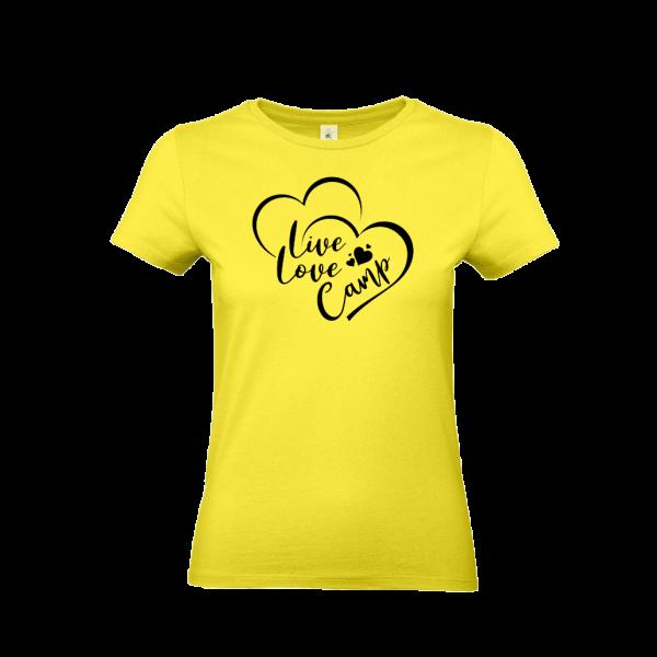 LIVE LOVE CAMP - Camping T-Shirt für Frauen