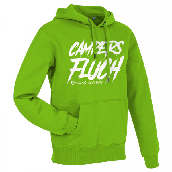 CAMPERS FLUCH - Regen und Besuch - Herren-Camping-Hoody Grün/Weiß-