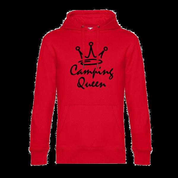Camping Queen - Unser Hoodie für Camper ist die ideale Camping Kleidung. Unsere Hoodies eignen sich für Wohnmobil, Wohnwagen oder Dauercamper. Ideal auch als Geschenk für Camper.